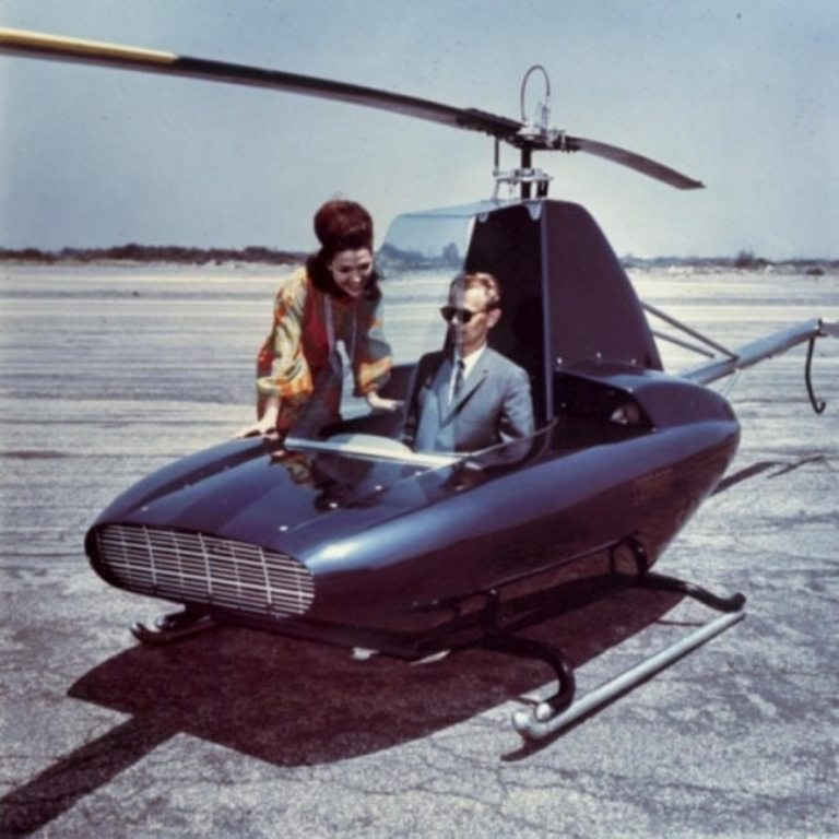 Checking out the 'Scorpion Personal Helicopter' Australia, 1967.jpg