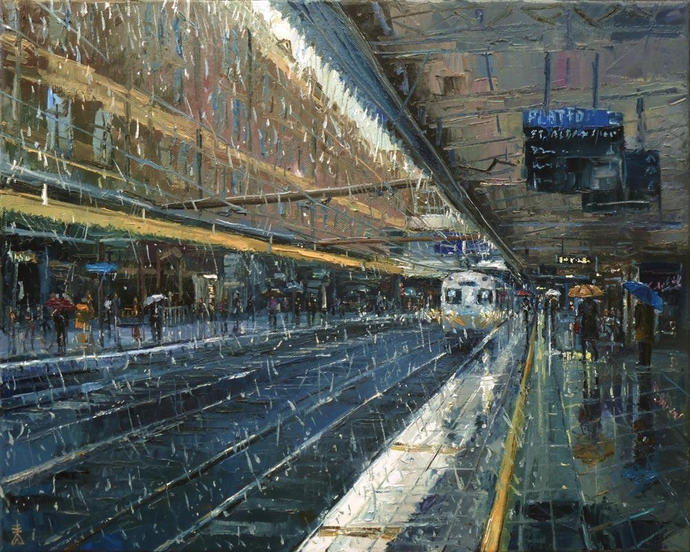 Rainy Train Station _ Dusan Malobabic.jpg