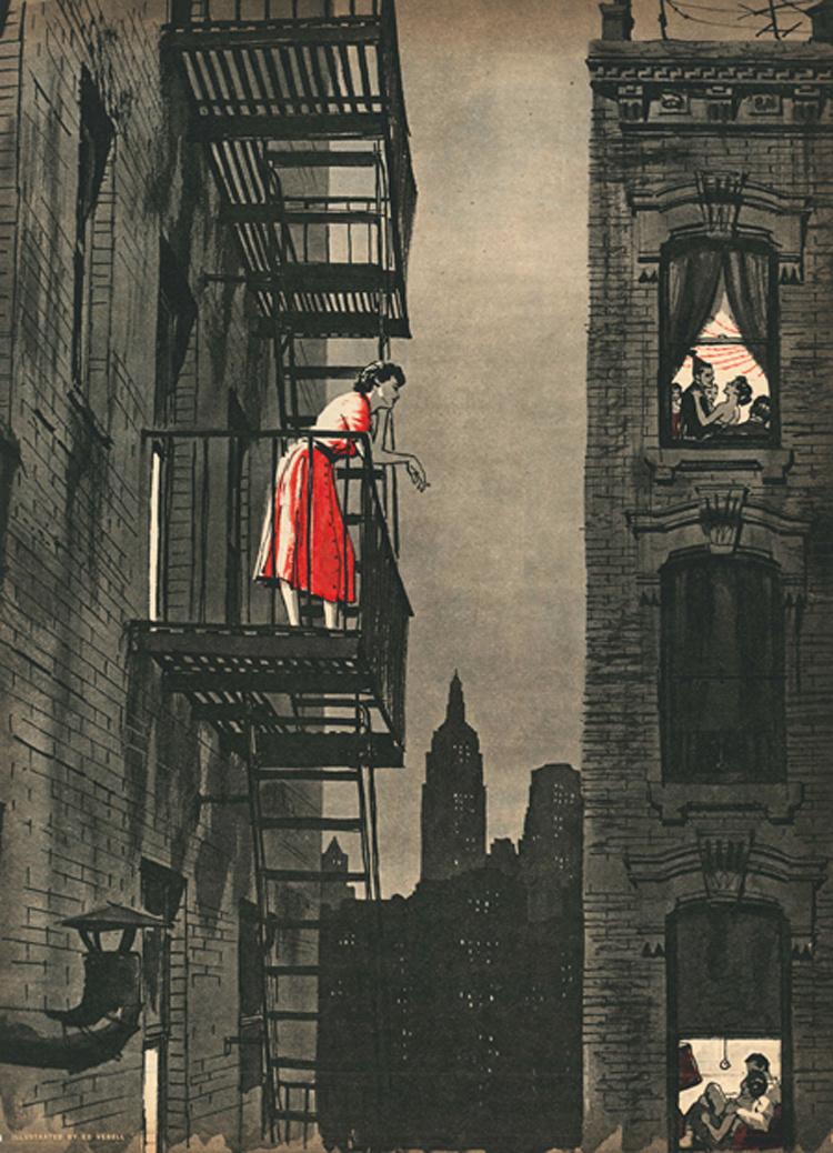 "Ed Vebell (1955) – ""Loneliness Is Dangerous"" by Harry Coren. Sunday Mirror Magazine, August 14, 1955.jpg"
