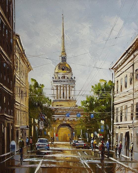 Городские пейзажи от художника Юрия Хованского.jpg
