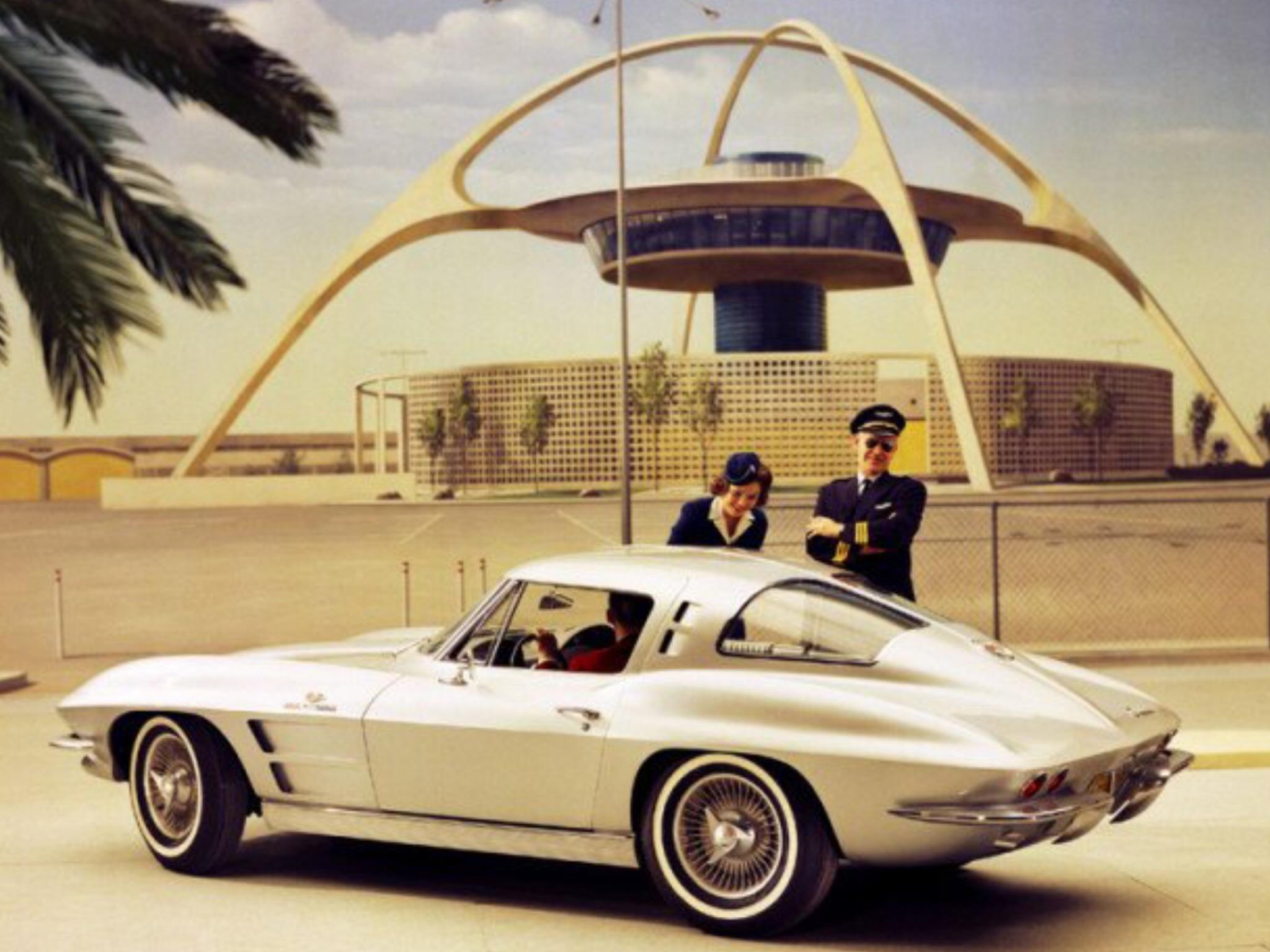 Checking out the new Corvette - 1963.jpg
