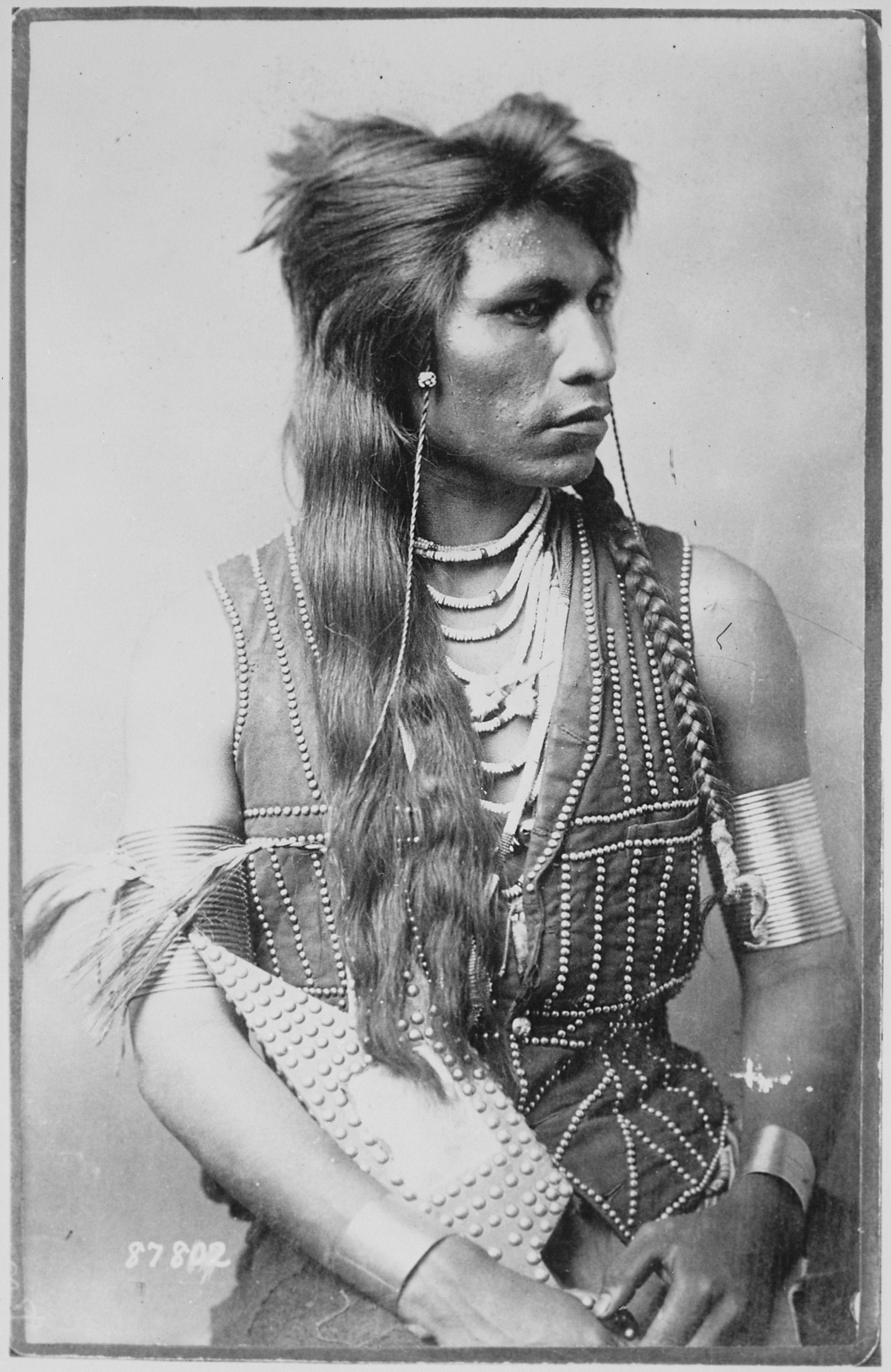 Rabbit Tail, a member of the Shoshone tribe who worked as a US Army scout, ca. 1895.jpg