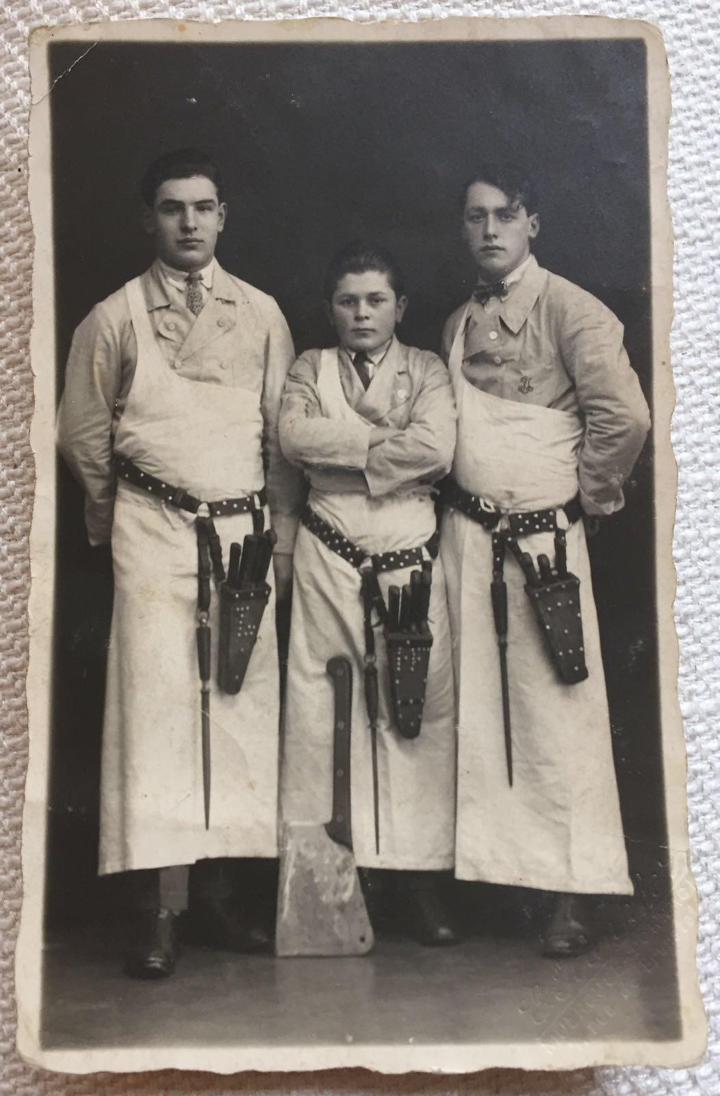 Training as a butcher in Mulhouse, France (circa 1935).jpg
