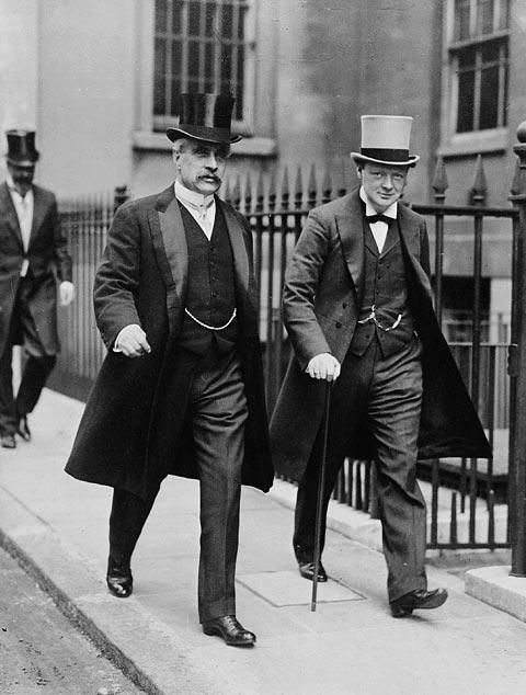 Prime minister Winston Churchill and prime minister Robert Borden (1912).jpg