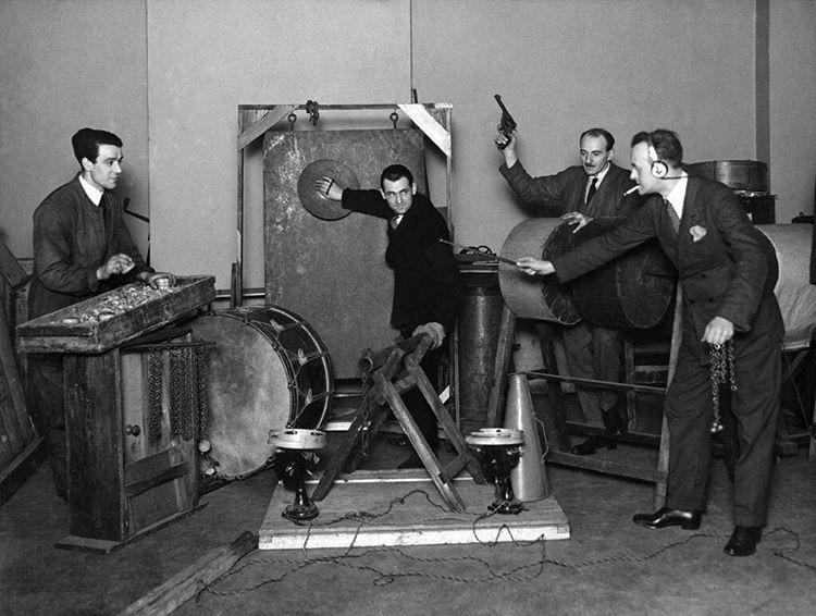 BBC Sound Effects department, 1927.jpg
