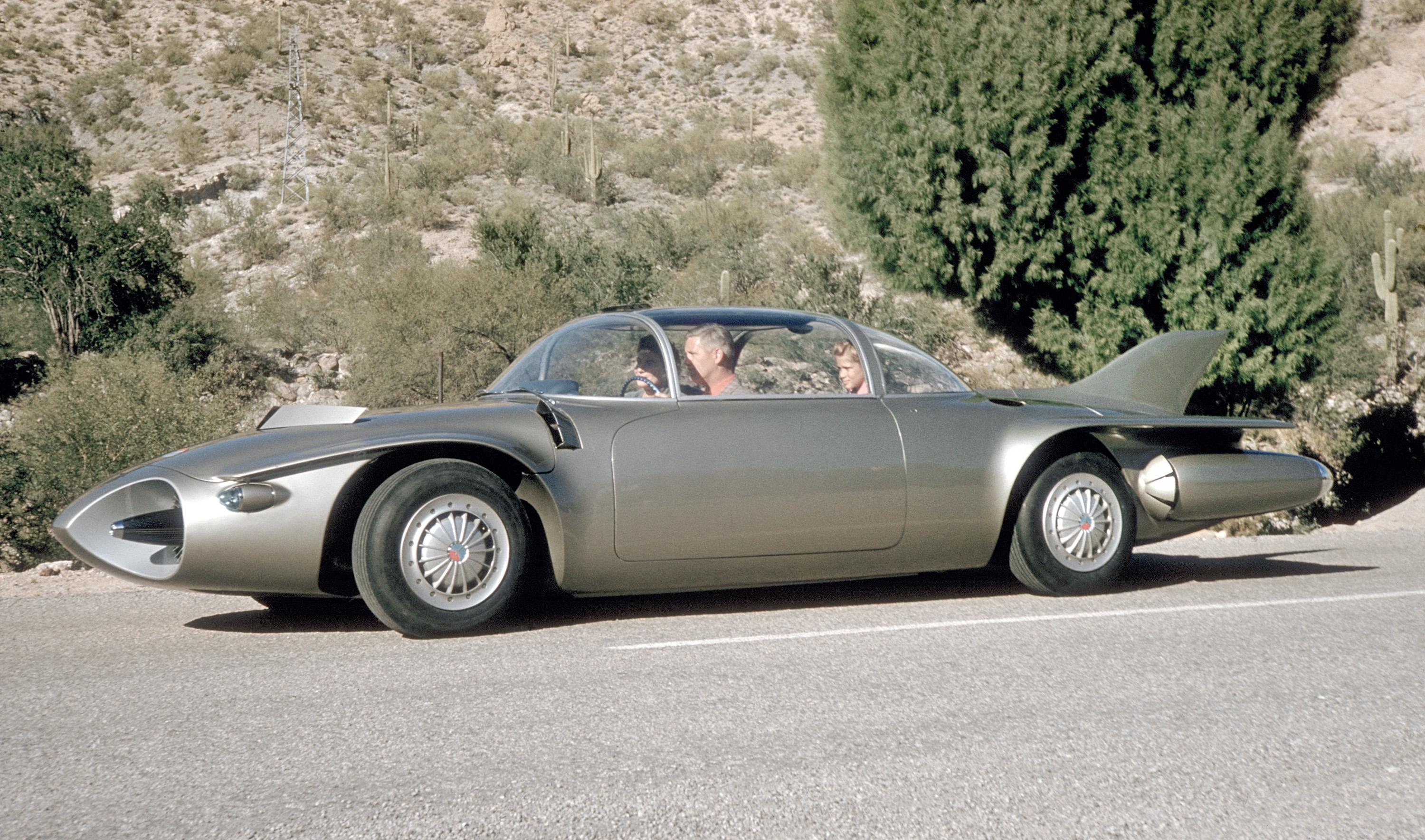 1956 GM Firebird II Concept - it doesn't get any more retro-futuristic than this.jpg