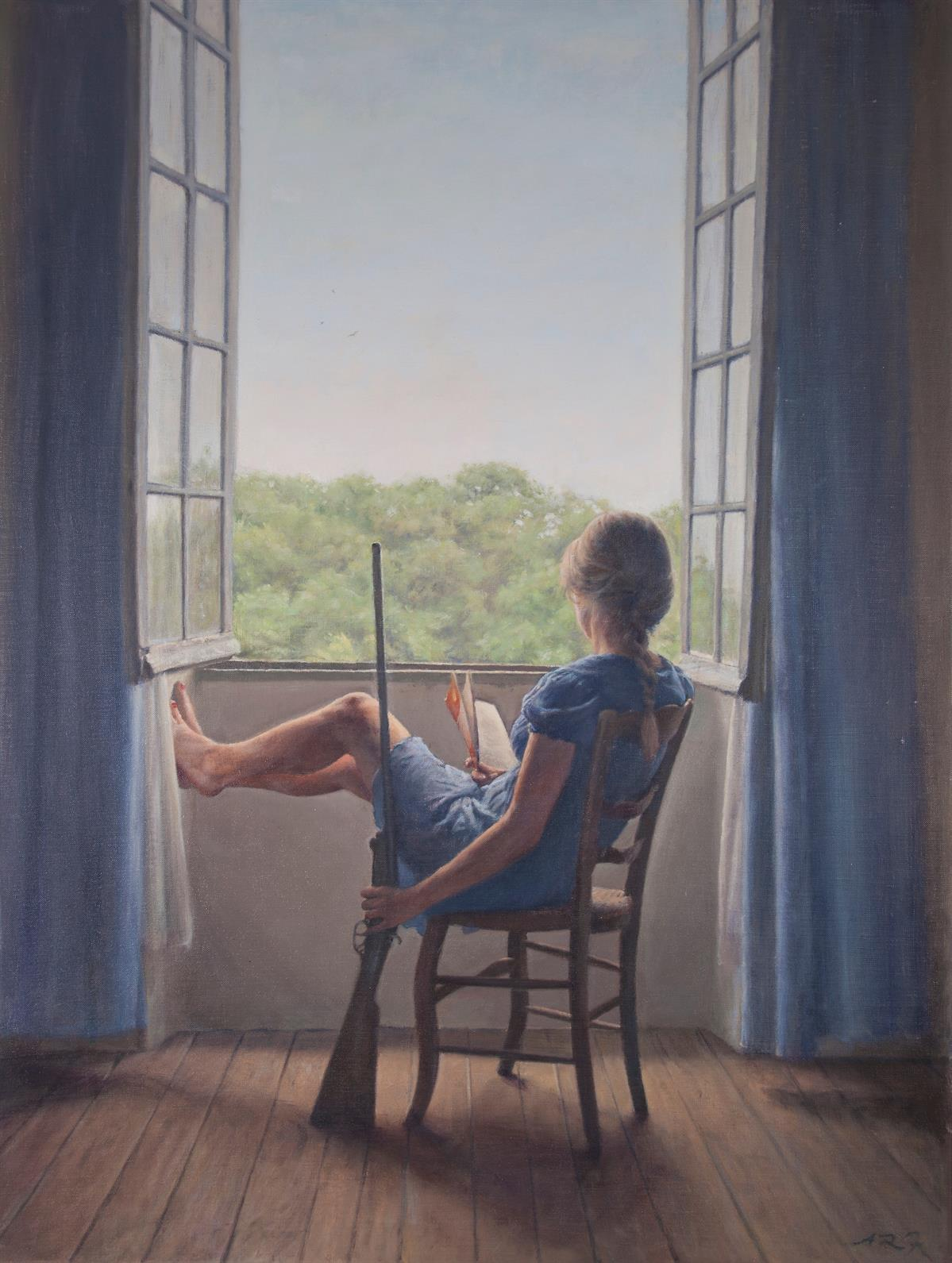 Waiting, Alex Russell Flint, oil on canvas, 2016.jpg