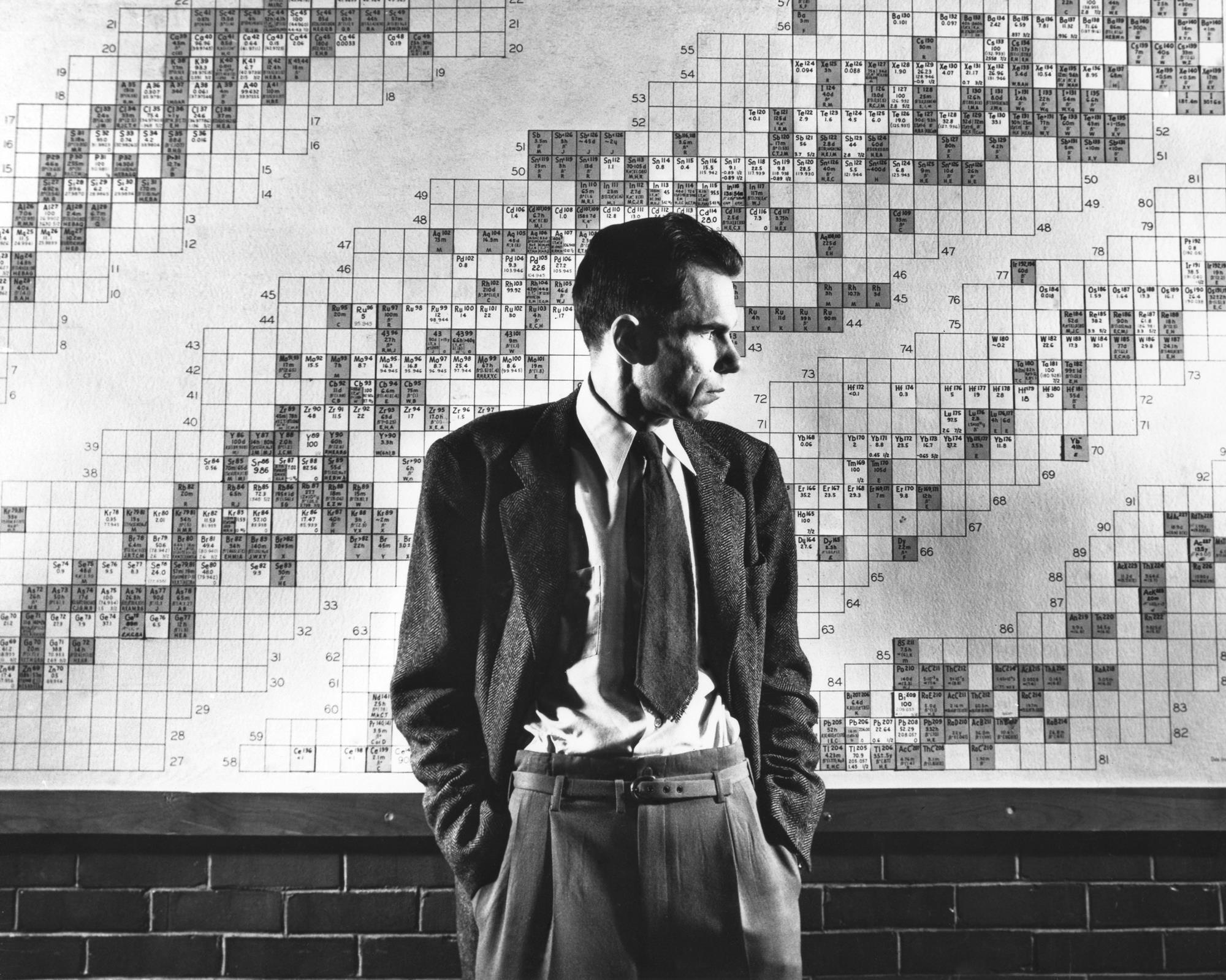 Glenn Seaborg, Nobel prize winner and discoverer of plutonium, circa 1950.jpg